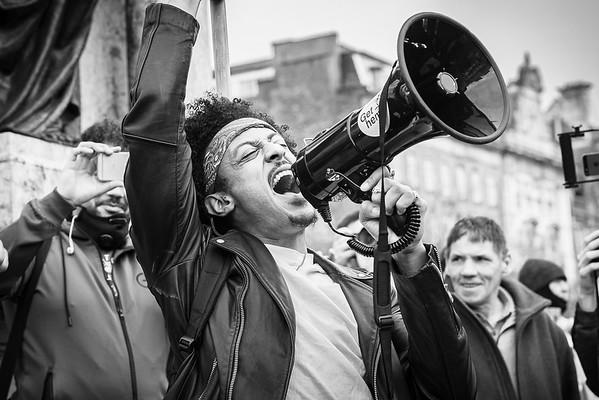 Anti Covid - anti vaccine protest in Manchester