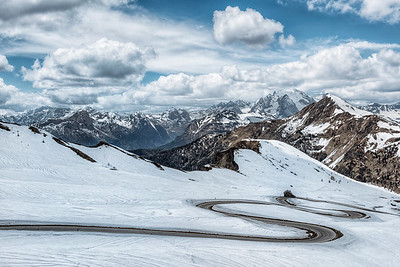 Curved Road in the Dolomites