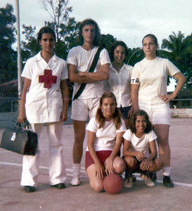 Teresa, António Joaquim, Lena Santos, Bibica Braziel Sao Soares Pereira, e ....(irma da Teresa ?)