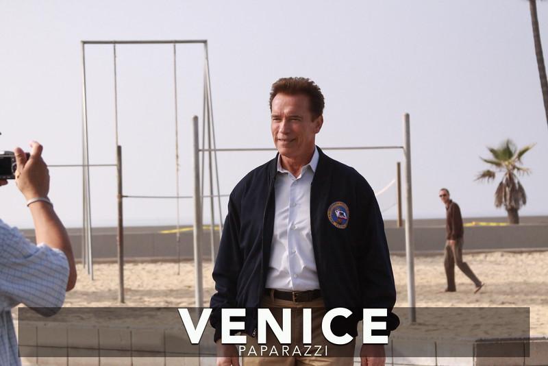 12.03.08  Arnold Schwarzenegger returns to Muscle Beach.  Venice, Ca  Photos by Venice Paparazzi