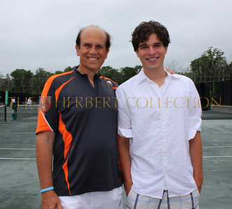 Mike Milken and Bonnie Pfeifer Evans Host the Charles Evans Prostate Cancer Foundation Pro/Am Tennis Tour, August 22, 2010