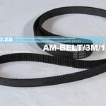 SKU: AM-BELT/3M/1569, 1569-3M Trapezoidal-Tooth Timing Belt, Closed-loop 3M Pitch Elastomeric Timing Belt 1569mm Length