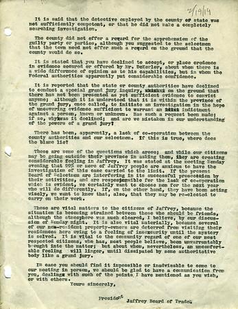 Correspondence 1919