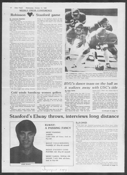 Daily Trojan, Vol. 92, No. 27, October 13, 1982