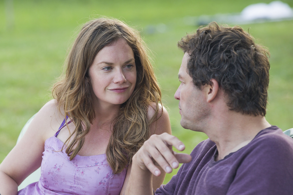 """. In this image released by Showtime, Ruth Wilson, left, and Dominic West appear in a scene from \""""The Affair.\"""" Wilson was nominated for a Golden Globe for best actress in a drama series for her role on the show on Thursday, Dec. 11, 2014. The 72nd annual Golden Globe awards will air on NBC on Sunday, Jan. 11. (AP Photo/Showtime, Mark Schafer)"""
