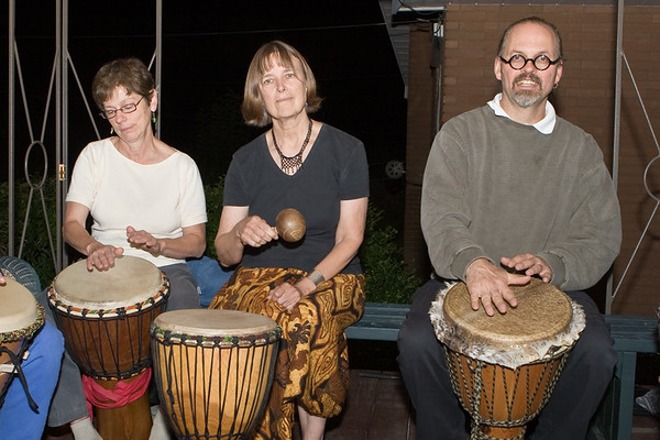 Drum Circle at Stephen Hudecki's- Sept. 2007