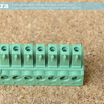 SKU: AE-BLOCK/350/7, Green Connector 3.5mm Pitch 7 Way Pluggable Terminal Block, 7Pin PCB Cable Plug in Screw