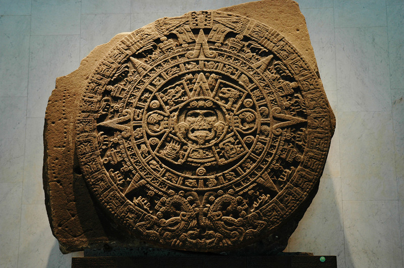 Calendar stone found in the Zocalo in Mexico City