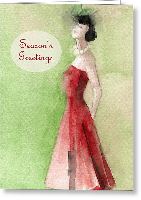 Vintage Chic Holiday Card by Artist Beverly Brown