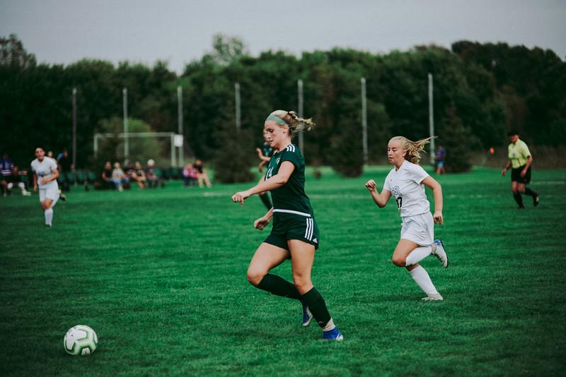 Holy Family Girls Varsity Soccer vs. Glencoe-Silver Lake, 9/24/19: Maeve Kelly '22 (14)