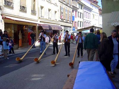 Switzerland: LIfe at Le Plâne - Scenes from the Saturday Market at Orbe