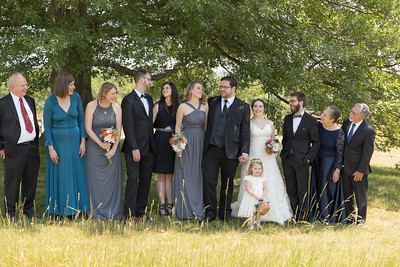 Group Portraits- Dana Ouellette & Matt LaMontagne Wedding-The Red Barn At Hampshire College Amherst, MA- New England Connecticut Wedding Photographer