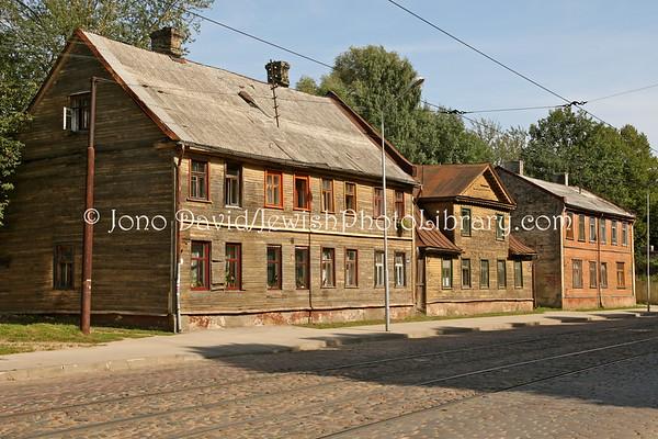 LATVIA, Riga. Ghetto, miscellaneous. (8.2011)