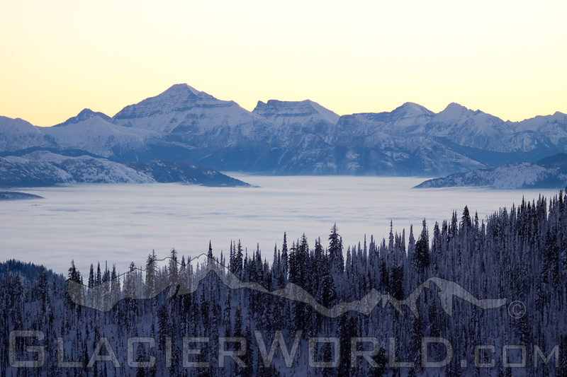 Mount Stimson rises above the entire Nyack of Glacier National Park.