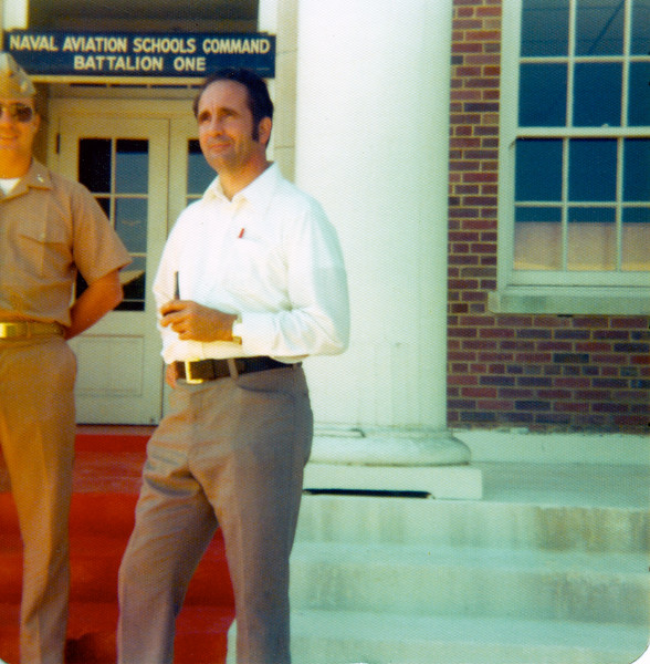 Dad and me at Pensacola for the AOCS graduation in late '75