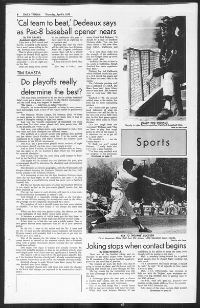 Daily Trojan, Vol. 61, No. 102, April 09, 1970