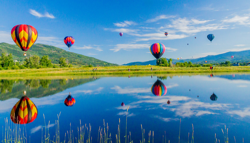 Balloons up in Steamboat Springs, CO