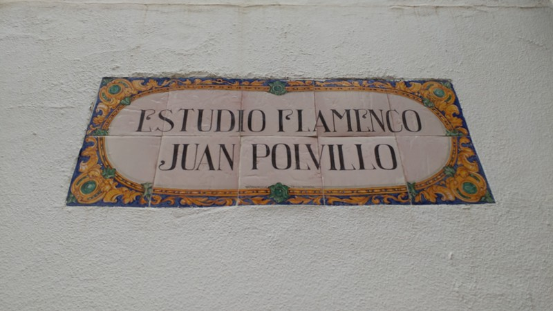Dancing flamenco in Seville starts at the dance studio of Juan Polvillo.