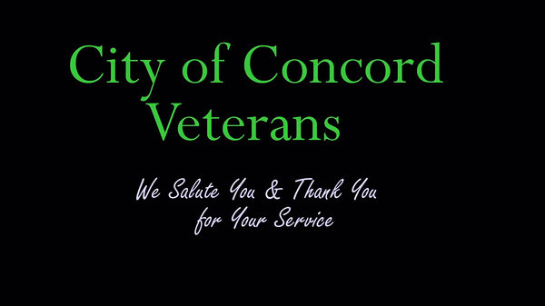 2011 City of Concord Veterans Day Appreciation Event Videos and Presentations