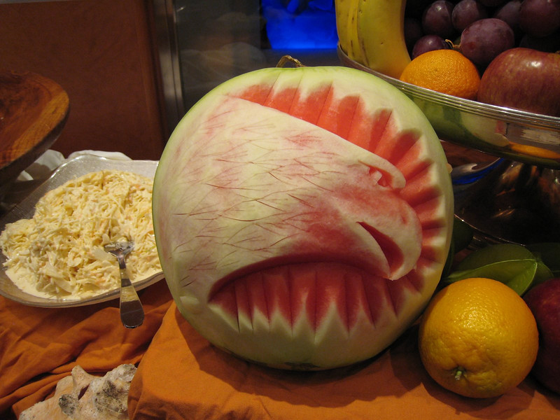 Another carved watermelon