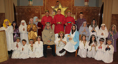 Holiday Program, St Jerome School, Church, Tamaqua (12-20-2013)