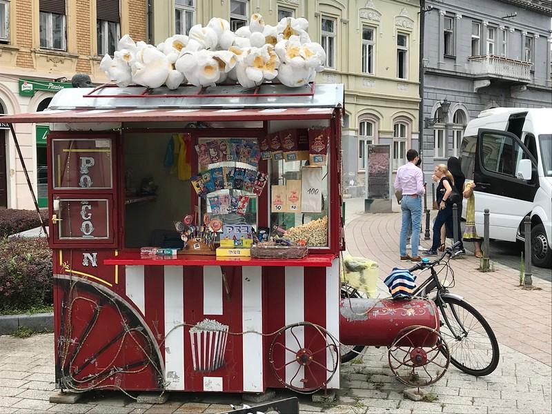 pop corn stand in Novi Sad, Serbia