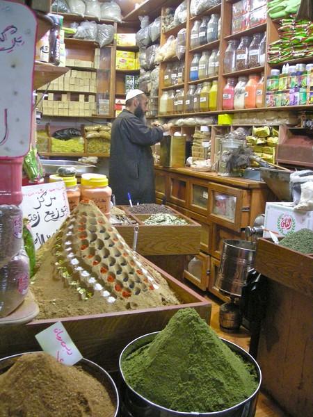 Spice market in the Aleppo Souk, Syria