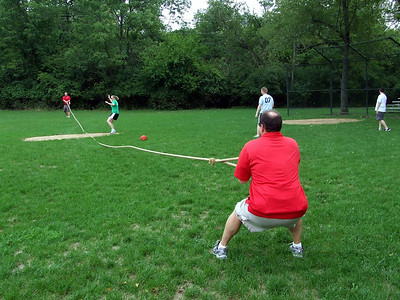 tug of war and kickball