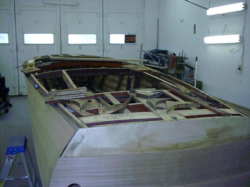 Port side framing removed.