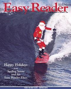 Easy Reader Newspaper Surfing Santa Vince Ray