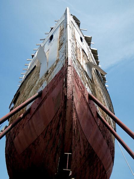 The Wapama in dry dock - doubtful she'll ever see water again.  www.maritimeheritage.org/ships/wapama.htm