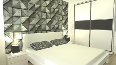 Ložnice s 3D tapetou