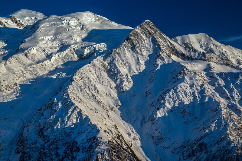Evening sun on the Mont Blanc