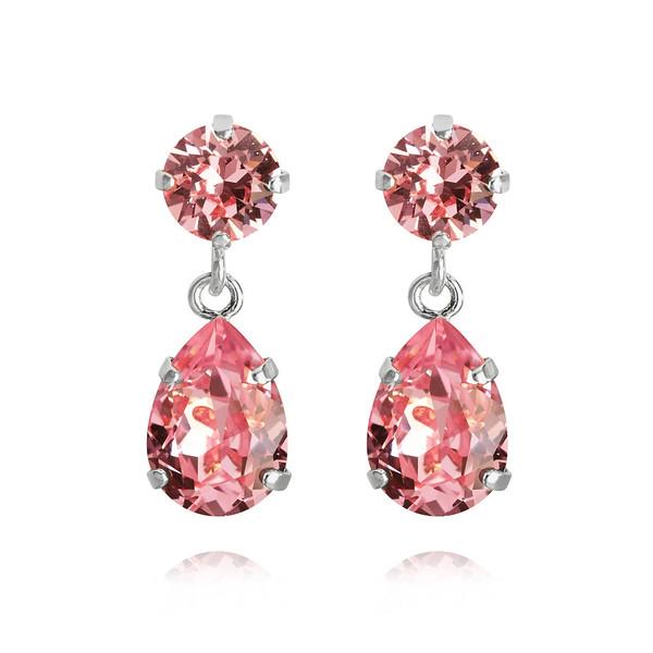 Mini Drop Earrings / Light Rose Rhodium