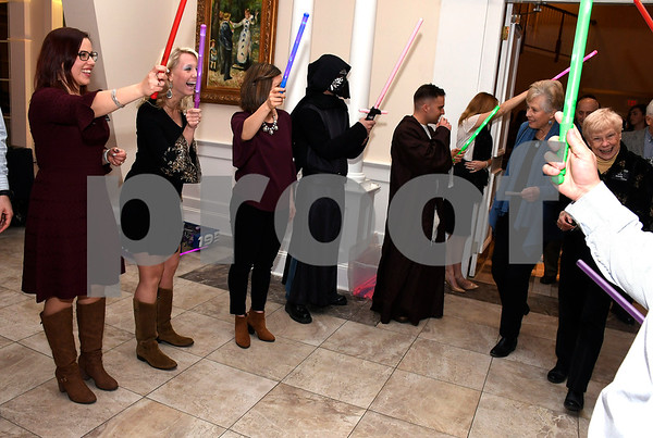 2/6/2018 Mike Orazzi | Staff The Southington YMCA's 89th Annual Meeting &quote;May the Y Be With You&quote; held at the Aqua Turf Club in Southington Tuesday night.