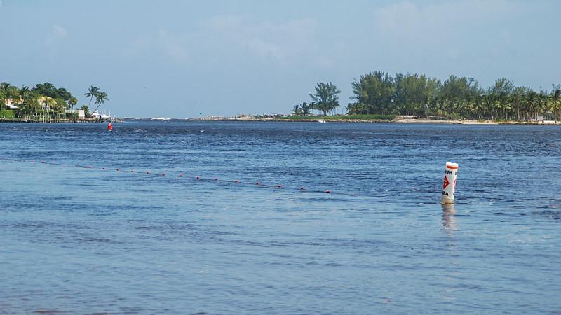 Jupiter Inlet from dock level