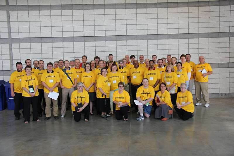 The 2013 Assembly Guidebook volunteers are ready to assist voting members.
