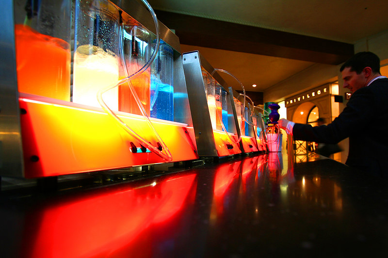 Colorful oxygen bar at the Venetian