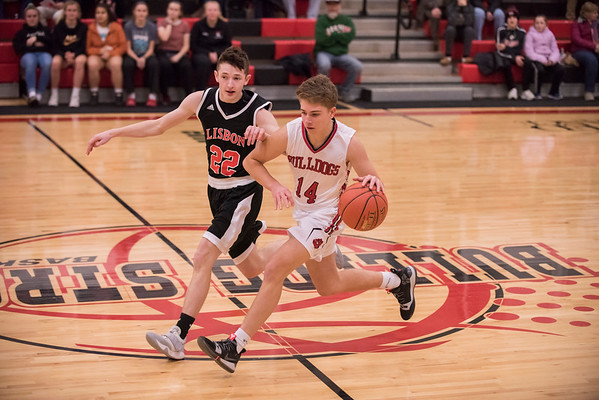 2019 JV Boys Basketball:  Hall-Dale vs Lisbon