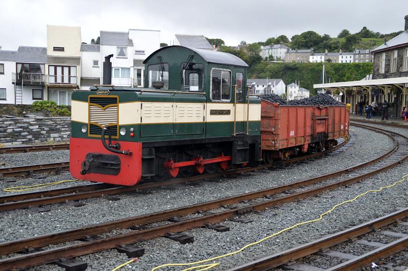 0-6-0DH 'Criccieth Castle' at Porthmadog on The Ffestiniog Railway  22/08/15.