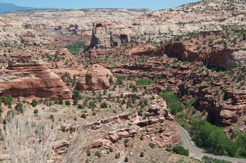 You ride through the Escalante Canyon area