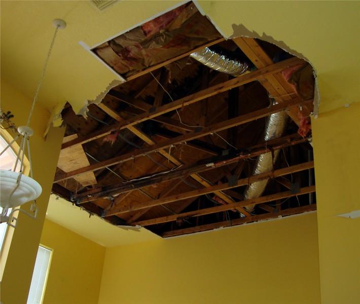 Ceiling Repair Before