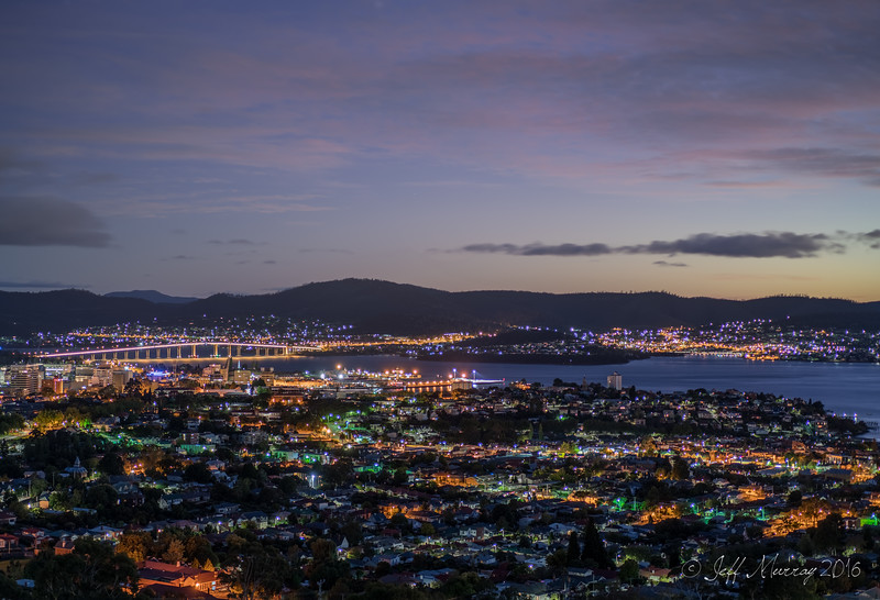 Tasman Bridge from Dynnyrne Road