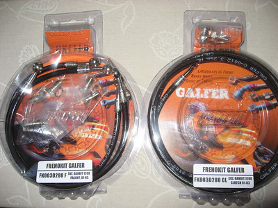Galfer SS Brake and Clutch Lines for Bandit