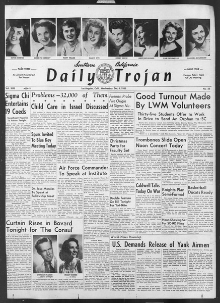 Daily Trojan, Vol. 43, No. 55, December 05, 1951