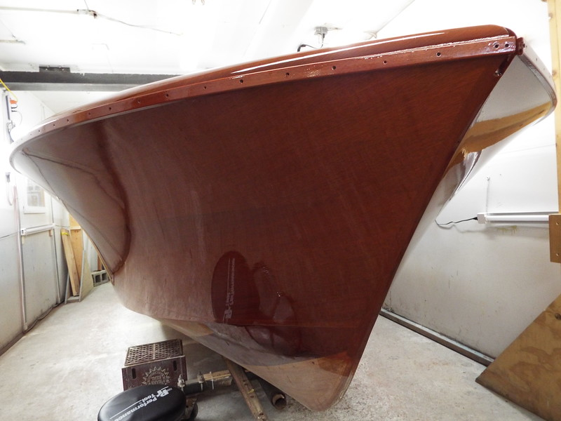 Front starboard view of all the finish applied.