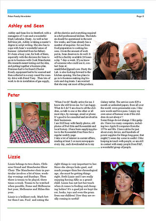 Christmas 2013 Fisher Family Newsletter