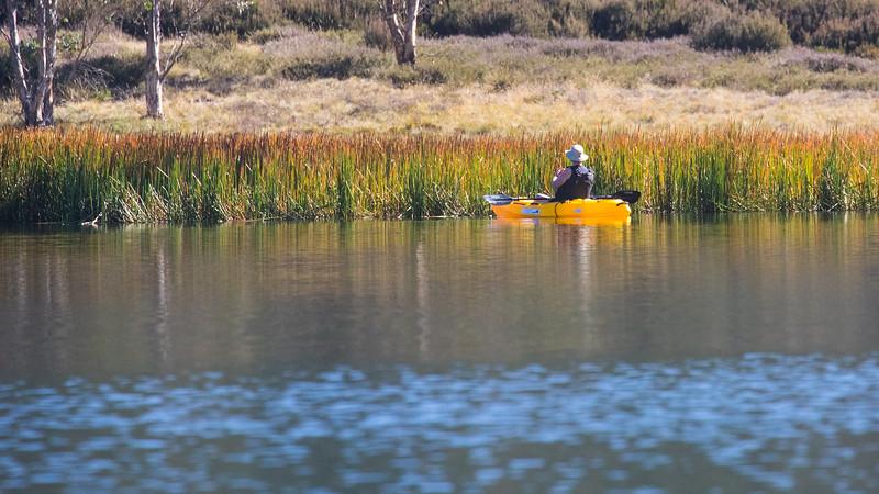 Sabine kayaking on Lake Catani
