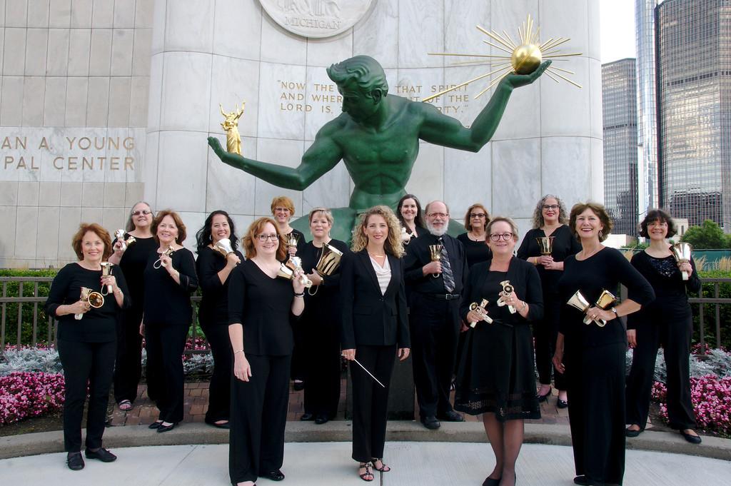 The 2019-2020 Detroit Handbell Ensemble with The Spirit of Detroit