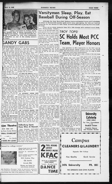 Summer News, Vol. 1, No. 11, July 19, 1946